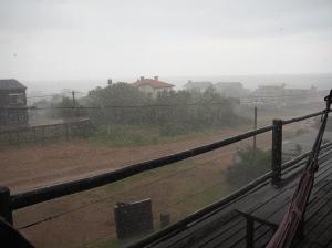 Torrential thunderstorm in Punta del Diablo